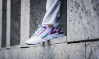 New Nike Women's React Element 55 in Football Grey/Psychic Blue Colour Size 9.5