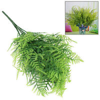 1pc Emulational Home Office Decor Manmade Plastic Green Grass Gracile Leaf Plant