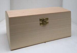 * Pine wood treasure chest 24x18x12 DD320 trunk box storage trinket pirate