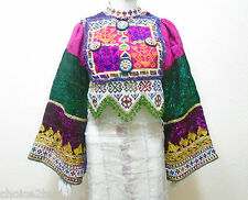 Kuchi Afgano Banjara Tribal Boho Hippy Vintage hecha a mano vestido de la tapa especial DT-14