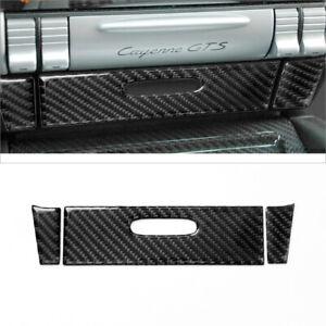 Carbon Fiber Central Ashtray Panel Cover Trim For Porsche Cayenne Sport 2003-10