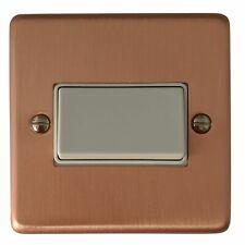 G&H CRG69W Standard Plate Rose Gold 1 Gang Triple Pole 10A Fan Isolator Switch