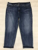 Chicos So Slimming Girlfriend Crop Jeans Size 3 XL 16 Medium Wash Slim