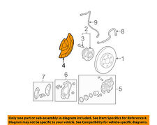 GM OEM Disc Brake-Front-Backing Plate Dust Splash Shield 10390112
