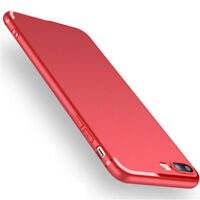 For Apple iPhone 7 Plus Shockproof Strong Silicone Case TPU Cover Shell Red