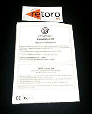 ORIGINAL Instruction Booklet MANUAL DE INSTRUCCIONES SEGA DREAMCAST CONTROLLER