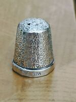 Antique Sterling Silver Thimble Henry Griffiths and Son 1928 Birmingham