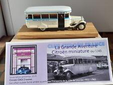 CITROEN C6 G1 autobus 2 tonnes long 1932 des TVCL (ville de Lourdes) 1/43