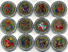 MALAWI 2005 LUNAIRE 12x 5 KWACHA Argenté 24k OR Plaqué DISQUE Certifié