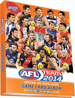 OFFICIAL AFL Team 2014 Game TRADING CARD Album  BRAND NEW!