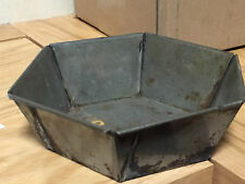 Antique Metal HEXAGON PUDDING BUNDT CAKE MOLD JELLO Kitchen Primitive Pan 6.5""
