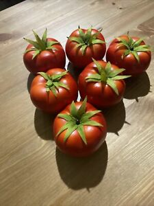 6 Pc Tomatoes Artificial Fake Replica Vegetables Fruit for Decor