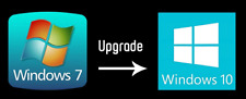 Microsoft Windows 7 auf nach 10 Professional Pro Prof Update Upgrade Code Key
