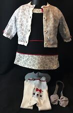 Gymboree Cozy Kitty Baby Girl 3-6 Months Dress Cardigan 4 Piece Outfit Set $79