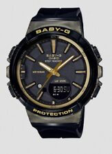 Casio Baby-G * BGS100GS-1A Runner Anadigi Step Tracker Black & Gold Watch