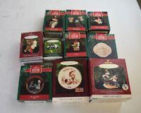 Hallmark Keepsake Christmas Ornaments Variety Lot of 10 Some Rares 80s 90s 2000s