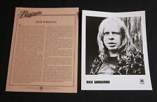 RICK WAKEMAN 'NO EARTHLY CONNECTION' 1976 PRESS KIT—PHOTO