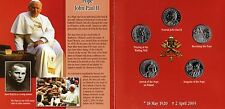 Pope John Paul II 2005 YEAR POPE 5 Papal 1 Lira coins Commemorating JOHN PAUL II