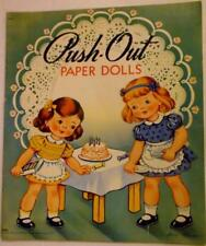 New listing 1946 Push-out Paper Doll Book by Saalfield 10.75 x 12.75 inch Lot 203