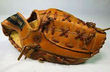 "RIGHT HT Vintage FRANKLIN Leather Baseball Glove BallHawk Field Flex 4129 11.5"""