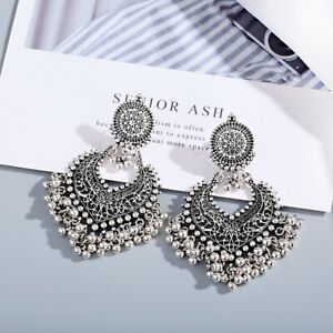 Classic Turkey Vintage Bohemian Earring Pearl Tassel Ethnic Tribal Indian Jewelr