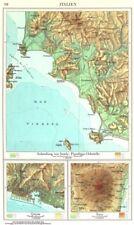 ITALY.Italien;Inseln.Piombino-Orbetello;Genua;Atna;Genoa Etna Elba 1958 map
