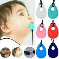 Infant Baby Chewy Necklace Anti Autism ADHD Biting Sensory Chew Teething Toys UK