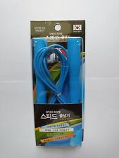 Speed Jump-rope PVC Rubber-type(Blue) 1 Pack(1 Set)