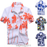 Mens Hawaiian T-Shirt Summer Floral Printed Beach Short Sleeve Tops Blouse Hot