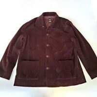 Eileen Fisher Women's Size Small Jacket Coat Blazer Corduroy Brown Button Pocket