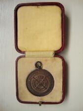 VINTAGE COFFRET BRONZE Royal Life Saving Society médaille-nommé et daté 1938