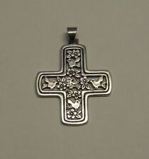 James Avery Sterling Silver LOS PAJARITOS CROSS Doves Pendant Retired