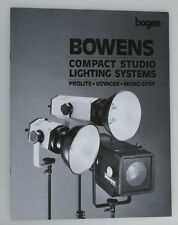BOWENS COMPACT STUDIO LIGHTING SYSTEMS BOOKLET