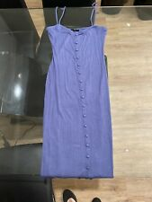 Forever 21 Button Dress, Midi, Purple, Large, Pre-owned