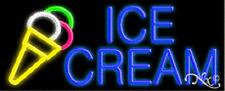 "NEW ""ICE CREAM"" 32x13 W/LOGO REAL NEON SIGN w/CUSTOM OPTIONS 10077"