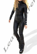 Leather Regular Long Sleeve Jumpsuits & Playsuits for Women