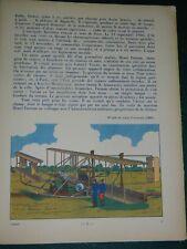 ENFANTINA Marcel JEANJEAN: L'Aviation. Hachette 1938 bel album illustré bel état