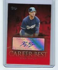 2009 Topps Career Best Autographs Ryan Braun CBA-RB Milwaukee Brewers