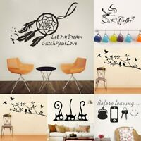 `Wall Decals Stickers DIY Birds Tree Removable Vinyl Home Rooms Decor Art Quotes