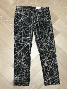DKNY Black & White Midrise Tight Leggings Workout Trousers Size XS New With Tags
