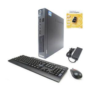 Lenovo ThinkCentre M92p Tiny Desktop PC i5-3470t 2.9GHz 8GB 256GB SSD WIFI Win10