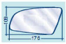 AUDI A3 5 PORTE SPORTBACK 05.2003/>2008 VETRO RETROVISORE DX CURVO CROMATO