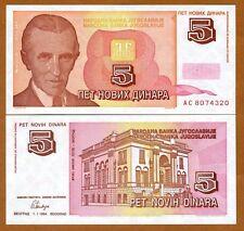Yugoslavia, 5 Novih Dinara, 1994, Pick 146, UNC > Short lived issue