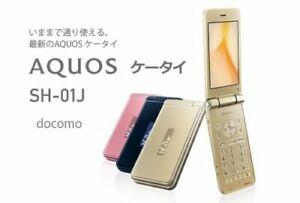 DOCOMO SHARP SH-01J AQUOS Gold ANDROID FLIP PHONE UNLOCKED NEW from JP