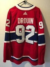 Authentic Adidas Climalite Montreal Canadiens Jonathan Drouin Jersey Sz 52