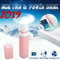 Mini Portable handheld Fan Rechargeable USB Electric AIR Cooler + Power Bank  *