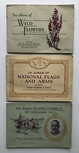 Cig Cards - Flowers/National Flags/Royalty (Player/Wills) 3 Full Sets In Albums