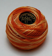 DMC Pearl Cotton Ball (10 gram) Size 8 Color #51 variegated orange B