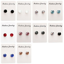 Pair Non Piercing Clip on Magnet Magnetic Ear Stud Mens Womens Fake Earrings