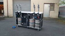 More details for black hexa 6ft flight case bar to dispense 4 products